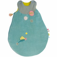 Gigoteuse bleu turquoise Les Pachats (70 cm) - Moulin Roty