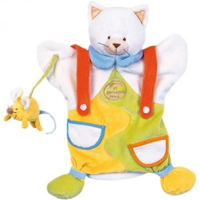 Doudou marionnette chat et souris (25 cm)