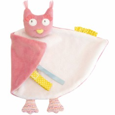 Doudou attache t�tine chouette Mademoiselle et Ribambelle (26 cm) - Moulin Roty