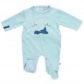 Pyjama funny bleu Victor (naissance : 50 cm) - Noukie's