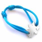 Bracelet cordon papa petite fille 25 mm (or blanc 750�) - Loupidou