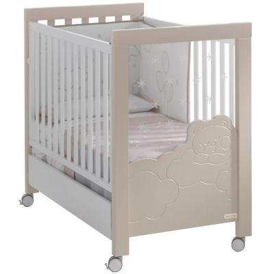 Lit bébé dolce luce relax plus sable/blanc (60 x 120 cm)