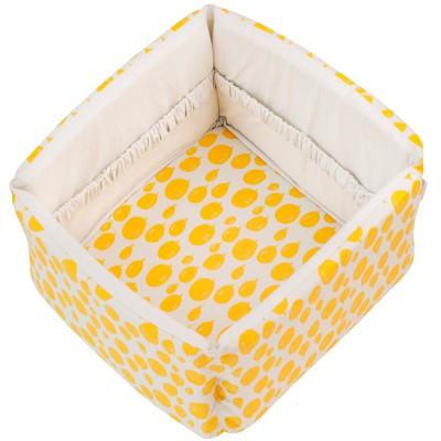 corbeille en tissu balloon yellow trixie baby. Black Bedroom Furniture Sets. Home Design Ideas