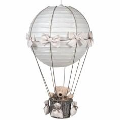 Lampe montgolfi�re vichy beige - Pasito a pasito