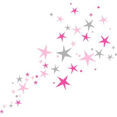 Stickers chambre fille etoiles mimi 39 lou berceau magique - Stickers pour chambre fille ...