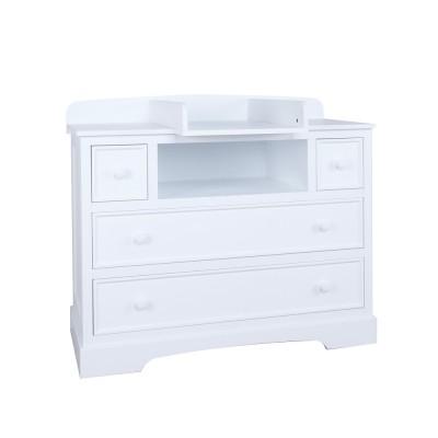 Commode langer avec meuble de rangement arrire rverie - Meuble a langer blanc ...