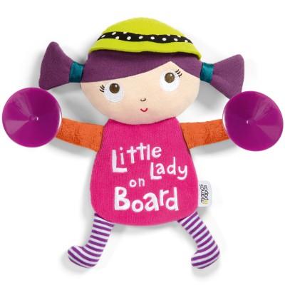 Signalétique bébé à bord ventouse petite dame à bord