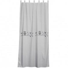 Rideau Hiboux gris (145 x 280 cm) - Taftan