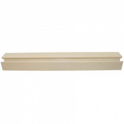 Barre de seuil pour barrière de sécurité easy lock métal blanc