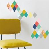 Stickers mural Losanges (19 x 26 cm) - Mimi'lou