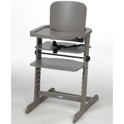 Chaise haute évolutive family bois taupe