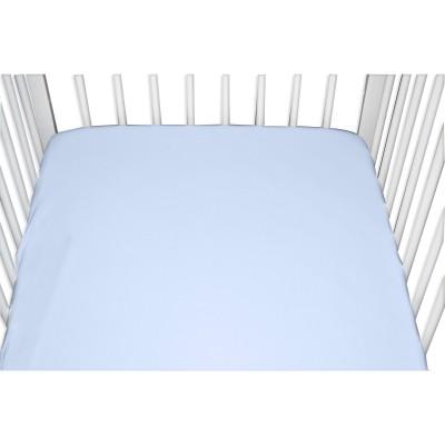 Drap housse jersey bleu ciel (40 x 80 cm)