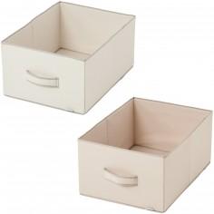 Lot de 2 corbeilles en tissu Tinours pour armoire ou commode - Candide
