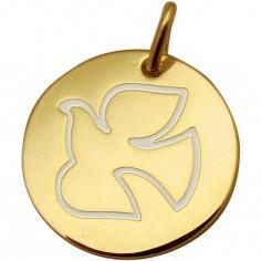 Médaille Colombe Espérance 16 mm (or jaune 750°)