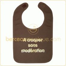 Bavoir ''A croquer sans mod�ration'' chocolat  par BB & Co