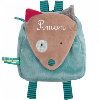 sac dos loup bleu les jolis pas beaux personnalisable. Black Bedroom Furniture Sets. Home Design Ideas