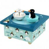Bo�te � musique magn�tique famille pingouins - Trousselier