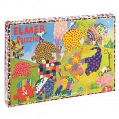 Puzzle Elmer (24 pi�ces) - Petit Jour Paris