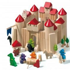 Blocs de construction en bois Ch�teau-Gaillard (85 pi�ces) - Haba