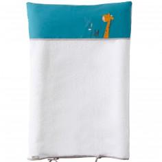 Housse de matelas � langer coton bio coton bio Savane en folie (55 x 80 cm) - P'tit Basile