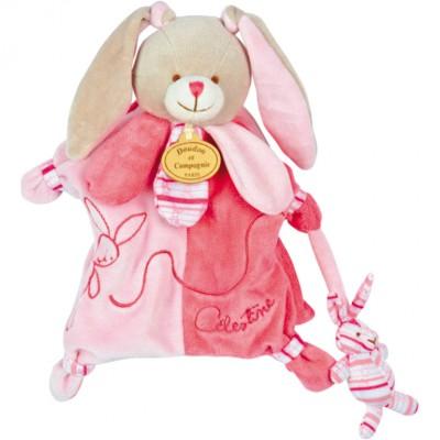 Doudou marionnette lapin célestine (25 cm)