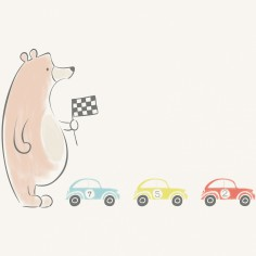 Tableau Playtime by Briagell Perret Mini cars (50 x 50 cm) - Lilipinso