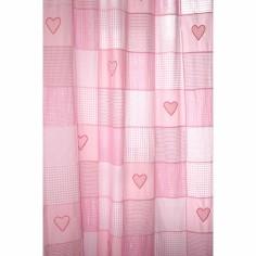 Rideau Coeur patchwork rose (145 x 280 cm) - Taftan