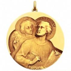 M�daille Saint Matthieu (or jaune 750�)