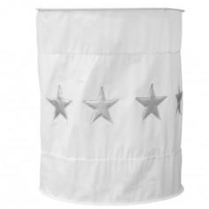 Suspension lampion en tissu Etoile blanc - Taftan