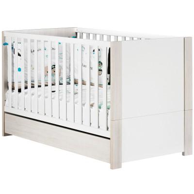 lit bb volutif opale blanc little big bed avec son. Black Bedroom Furniture Sets. Home Design Ideas