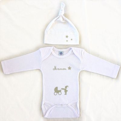 Ensemble bonnet body blanc manches longues for Meubles flamant outlet