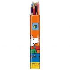 12 Crayons de couleur Mimi la souris - Petit Jour Paris