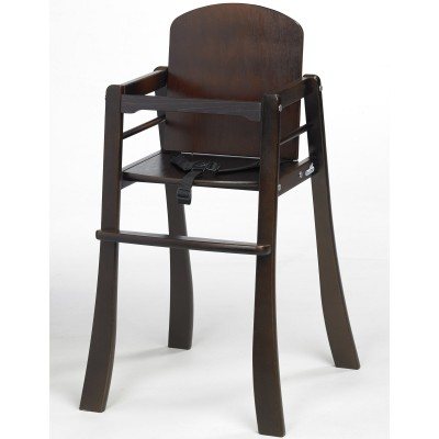 Chaise haute mucki bois marron foncé