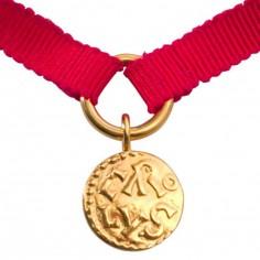 Bracelet Denier de Melle rouge (or jaune 750�) - La Monnaie de Paris