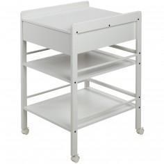 table langer en bois lotta blanc hauteur 86 cm. Black Bedroom Furniture Sets. Home Design Ideas