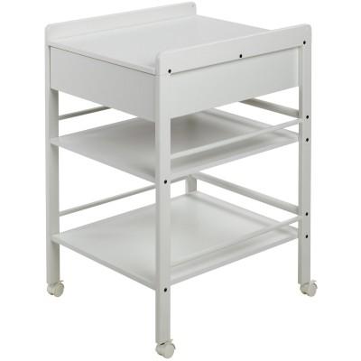 Table à langer en bois lotta blanc (hauteur 86 cm)