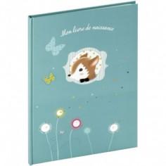 Livre de naissance Foxy bleu (40 pages) - Panodia