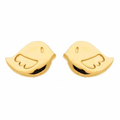 boucles d 39 oreilles oiseau or jaune 750. Black Bedroom Furniture Sets. Home Design Ideas
