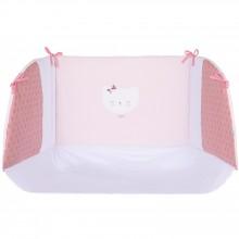 tour de lit love rose pour lit 60 x 120 et 70 x 140 cm. Black Bedroom Furniture Sets. Home Design Ideas