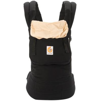 Porte-bébé original noir et beige