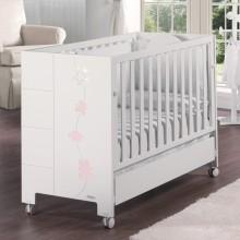 lit avec sommier inclinable avec swarovski blanc et rose. Black Bedroom Furniture Sets. Home Design Ideas