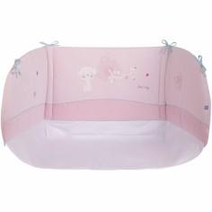 Tour de lit rose Douceur sucr�e (pour lits 60 x 120 cm et 70 x 140 cm) - Sucre d'orge