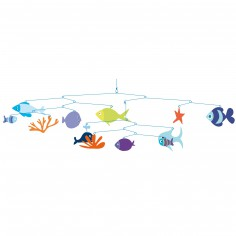 Mobile poissons Monde marin                              - Little big room by Djeco