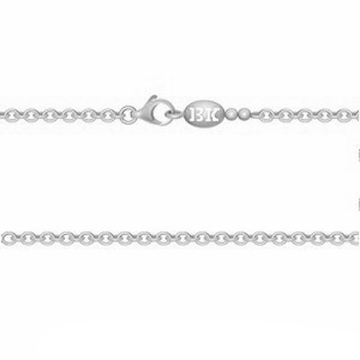 Cha�ne maille for�at ronde 40 cm (argent 925�) - Becker