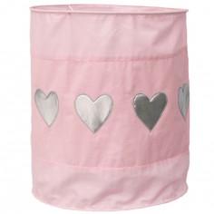 Suspension lampion en tissu Coeur rose - Taftan