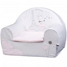 fauteuil club enfant imitation cuir gris baby dco. Black Bedroom Furniture Sets. Home Design Ideas