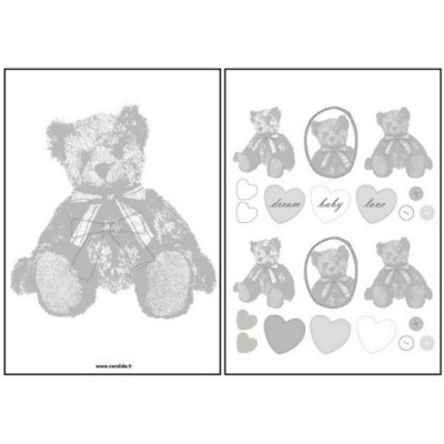 Stickers mural l 39 ours gourmand 26 x 35 cm mimi 39 lou - Stickers muraux repositionnables ...