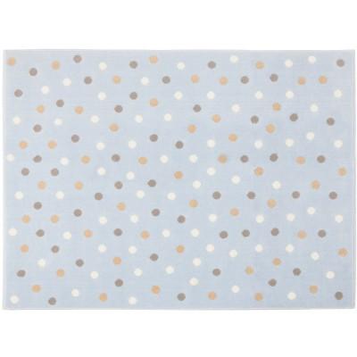 grand tapis enfant acrylique bleu pois tricolors 200 x. Black Bedroom Furniture Sets. Home Design Ideas