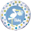 Ballons Cigogne bleus (2 pièces) - Baby S Event