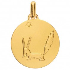M�daille Petit Prince le Renard 18 mm (or jaune 750�)